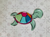 Swimming Sea Turtle Cutout, Unfinished Wall Decor Paint by Line