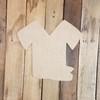 Nurse Scrub Shirt and Hat Unfinished Wood Craft Cutout