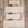 Word Game Letter Tile Font, Paint By Line Wood Square