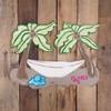 Beach Palm Trees With Hammock Cutout Tropical Wood Shape, Paint by Line