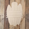 Surfboard Driftwood Plaque Tropical Wood Shape, Paint by Line