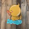Bubble Bath Duck Cutout, Engraved Shape, Paint by Line