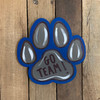 Dog Paw Print Cutout, Unfinished Shape, Paint by Line