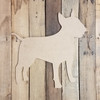 Bull Terrier Breed Dog Unfinished Wood Craft Shape