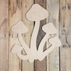 Mushrooms Cluster Craft Shape, Unfinished Wood Paint by Line