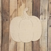 Plain Fall Pumpkin with Stem, Unfinished Shape, Paint by Line