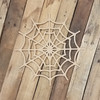 Spiderweb Halloween Craft, Unfinished Wood Shape