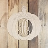 Fall Pumpkin Monogram, Unfinished Paint by Line