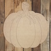 Gnarly Stem Pumpkin, Unfinished Shape, Paint by Line