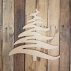 Brush Stroke Christmas Tree Cutout, Craft Unfinished Wood Shape