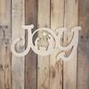 New JOY Word Nativity Scene Wood Cutout, Unfinished  DIY Craft