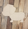 Weiner Dog Puppy, Wood Cutout, Paint by Line