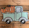 Pumpkin Truck Side View, Unfinished Wood Cutout, Paint by Line