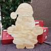 Chubby Short Santa, Unfinished Large Pine Yard Display Art, Photo Prop