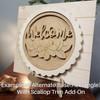 3 Letter Vine Monogram Unfinished Circle Easel Kit, Engraved DIY Craft Decor Set