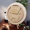 Interchangeable Antique Pickup Truck Seasonal Circle Easel Kit, Engraved DIY Craft Decor Set