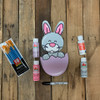Bunny in Egg Easter Paint Kit, DIY Wood Cutout, Video Tutorial and Instructions