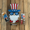 Patriotic Gnome Paint Kit, DIY Wood Cutout, Video Tutorial and Instructions