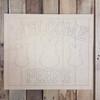 Welcome Peeps Beaded Board Plaque, Wood Cutout, Shape, Paint by Line