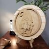 Interchangeable Gnome Seasonal Circle Easel Kit, Engraved DIY Craft Decor Set WS