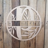 Spring Floral Circle Name Sign, Unfinished Wooden Family Monogram