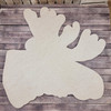 Layered Moose Wall Décor 3 Piece Set, Unfinished Art