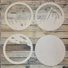 Mountain Road Circle Layered Art, Wall Décor 4 Piece Set, Unfinished Art