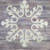 Snowflake Inspired Mosaic Art, Unfinished Wooden Cutout Craft Design WS