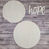 "14"" Hope Wood Slice Stacked Décor Kit, Unfinished 3 Piece Set"