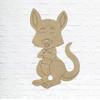 Kangaroo, Unfinished Wood Cutout, Paint by Line