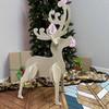 Full Antler Reindeer Yard Art (Baby Rudolf) 1/2'' Pine Christmas Decor