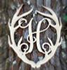Antler Monogram Framed Letter Wooden Unfinished Craft-H
