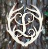 Antler Monogram Framed Letter Wooden Unfinished Craft-L