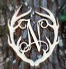 Antler Monogram Framed Letter Wooden Unfinished Craft-N