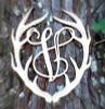 Antler Monogram Framed Letter Wooden Unfinished Craft-V