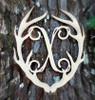 Antler Monogram Framed Letter Wooden Unfinished Craft-X