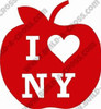 Apple Love New York Unfinished Cutout, Wooden Shape, MDF DIY Craft