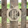 Apple Frame Monogram Letter Wooden Unfinished DIY Craft