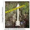 Arrow 5 Unfinished Cutout Paintable Wooden MDF DIY measurements