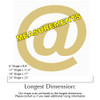 At (@) Symbol Unfinished Cutout, Wooden Shape, Paintable MDF DIY Craft