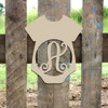 Baby Onsie Monogram Letter Frame Wooden Unfinished DIY