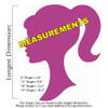 Barbie Head Unfinished Cutout, Wooden Shape, Paintable Wooden MDF DIY