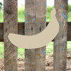 Banana Unfinished Cutout, Wooden Shape, Paintable MDF DIY Craft