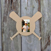 Baseball  Wooden Picture Frame, Unfinished Cutout Shape DIY