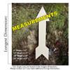 Arrow 6 Unfinished Cutout measurements