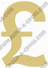 British Pound Unfinished Cutout, Wooden Shape, Paintable DIY Craft