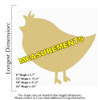 Chick Unfinished Cutout, Wooden Shape, Paintable Wooden MDF DIY Craft