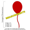 Circus Balloon Unfinished Cutout, Wooden Shape,  Paintable MDF DIY