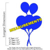 Circus Balloon 5 Unfinished Cutout, Wooden Shape,  Paintable MDF DIY