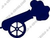 Circus Cannon Unfinished Cutout, Wooden Shape,  Paintable MDF DIY Craft